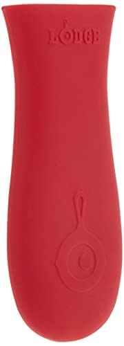 Lodge Silicone Hot Cast Iron Skillet Handle Holder, 5-5/8' L x 2', Red