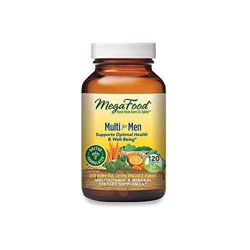 MegaFood, Multi for Men, Supports Optimal Health and Wellbeing, Multivitamin and Mineral Dietary Supplement, Gluten Free, Vegetarian, 120 Tablets