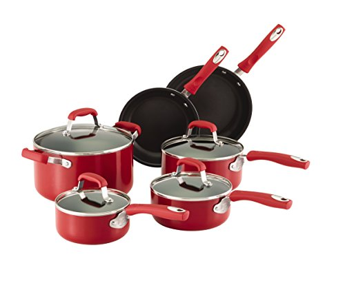 4. Guy Fieri 10-Piece Nonstick Cookware Set
