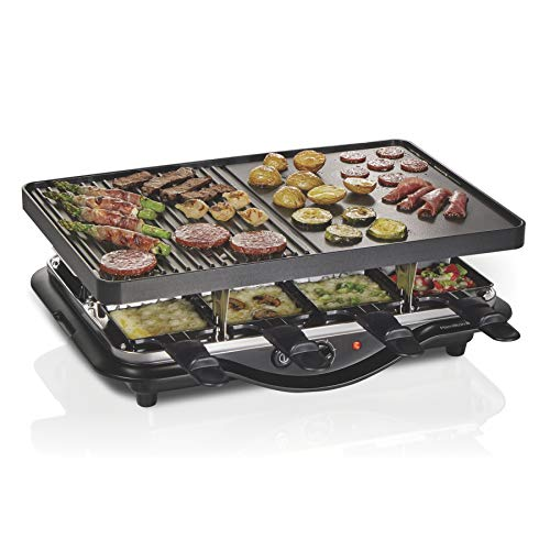 5. Hamilton Beach 8-Serving Raclette Electric Indoor Grill