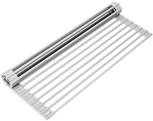 Surpahs Over The Sink Multipurpose Roll-Up Dish Drying Rack