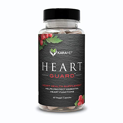 KaraMD Heart Guard | Doctor Formulated Natural Cardiovascular Heart Health & Blood Pressure Supplement |Supports Healthy Circulation & Artery Functions|Magnesium & Grapeseed Extract, 30 Servings