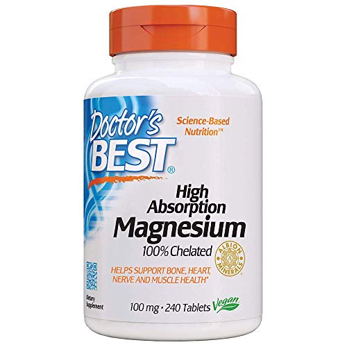 1. Doctor's Best High Absorption Magnesium Glycinate Lysinate