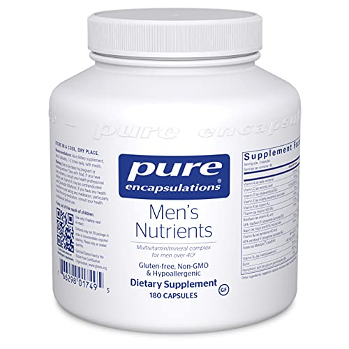 Pure Encapsulations Men's Nutrients   Multivitamin Mineral Supplement to Support Prostate Health, Energy, Endurance, and Stamina in Men Over 40*   180 Capsules