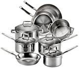5. T-fal Stainless Steel Cookware, Tri-Ply Bonded