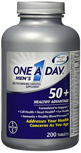One-A-Day Men's 50+ Healthy Advantage, 200 Tablets (One A Day)