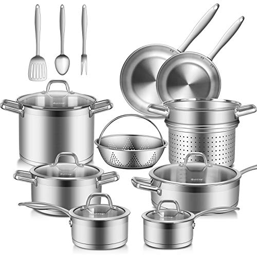 3. Duxtop SSIB-17 Professional 17 Pieces Stainless Steel Induction Cookware Set