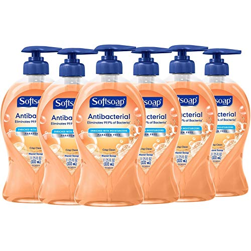 Softsoap Antibacterial Liquid Hand Soap, Crisp Clean - 11.25 Fluid Ounces (6 Pack)