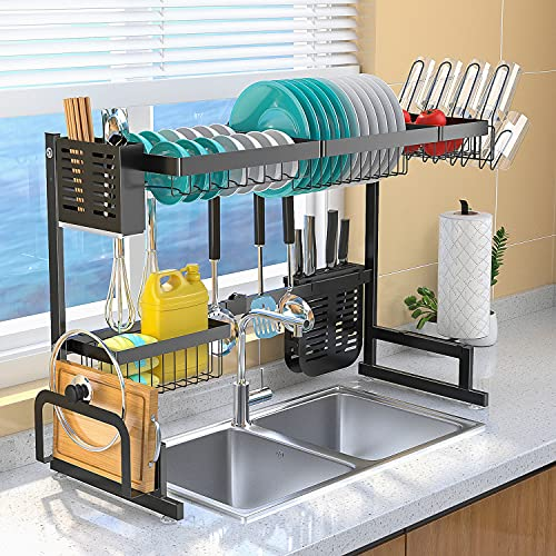 HOME KEY Over The Sink Dish Drying Rack