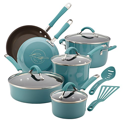 3. Rachael Ray 12-Piece Aluminum Cookware Set