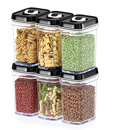 2. DWËLLZA KITCHEN Airtight Food Storage Containers with Lids