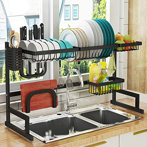 PUSDON Over Sink 24-40 inch Dish Drying Rack
