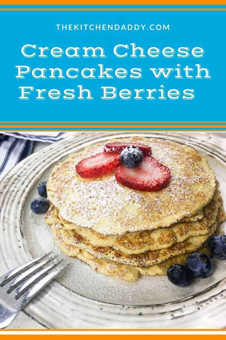 Cream Cheese Pancakes with Fresh Berries