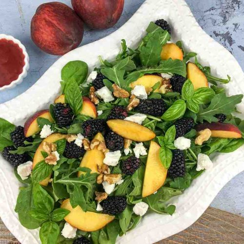 Peach Blackberry Salad