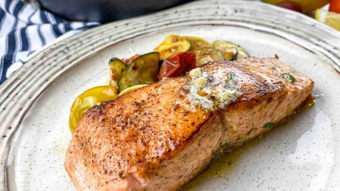 Salmon Herb with Butter